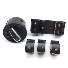 Headlight Master Window Switch For VW CC Tiguan Passat B6/3C Golf Plus Gti 5 6 Jetta MK5 Rabbit 5ND941431A 5ND959857 5ND959855