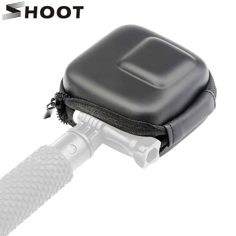 SHOOT Mini EVA Storage Box Case For GoPro Hero 8 7 6 5 Black Silver White Camera Protective Bag For Go Pro Hero 7 6 5 Accessory