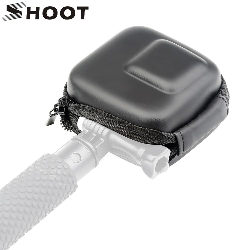 SHOOT Mini EVA Storage Box Case For GoPro Hero 8 7 6 5 Black Silver White Camera Protective Bag For Go Pro Hero 7 6 5 Accessory