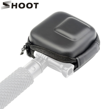Shoot mini estojo de eva para câmera, estojo protetor preto e branco para câmera gopro hero 8 7 6 5 acessório go pro hero 7 6 5