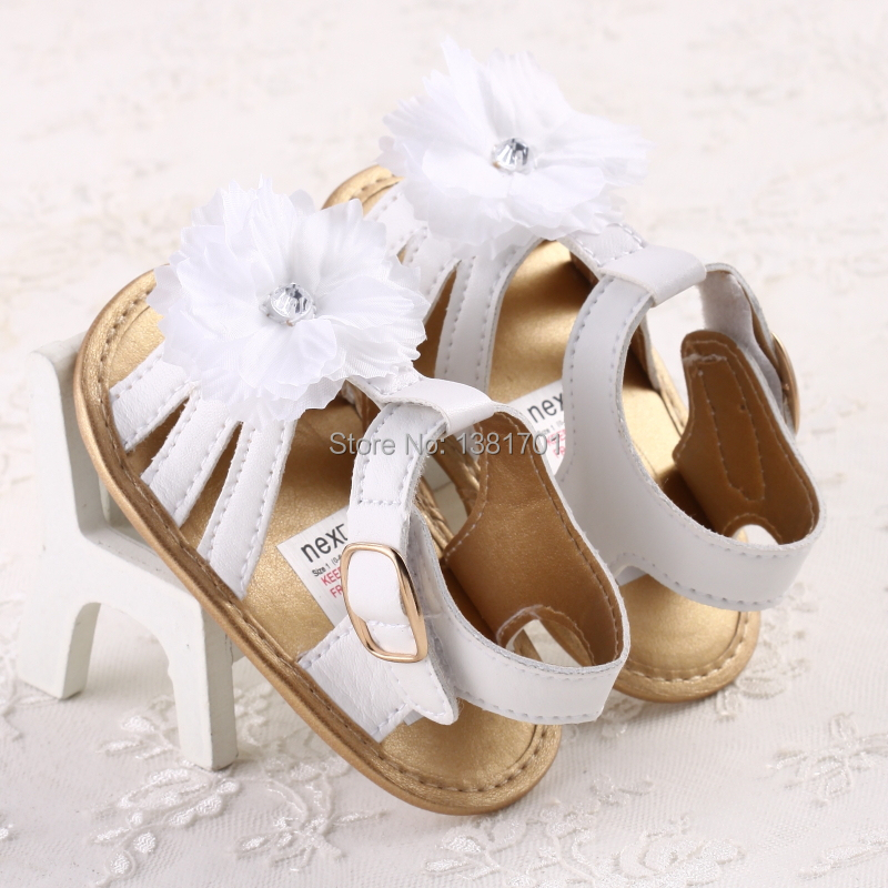 fashion white flower sandals baby shoes size 0 18 months girls ... e8132f4bf