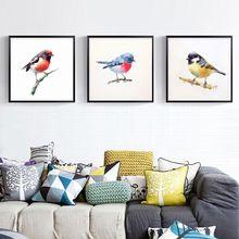 New Watercolor Small Bird Pattern Round DIY Diamond Painting Nordic Style Living Room Decoration Handwork Full Diamond Paintings
