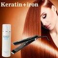 Calidad de Hight 750 ml tratamiento de queratina Brasileña enderezar producto de pelo + plancha de pelo plano y alisar el cabello