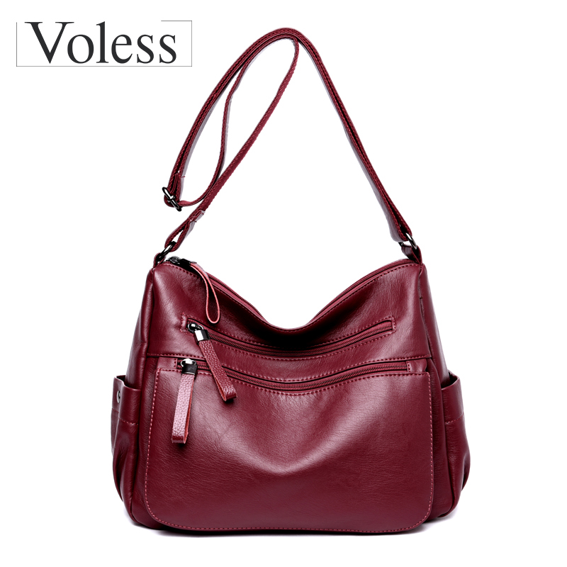 Soft Leather Bag Women Messenger Bags Fashion Flap Shoulder Bag Designer High Quality Crossbody Bags For Women Sac A Main Femme