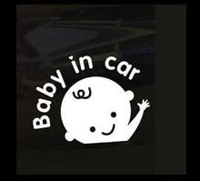 Hot Car Styling Baby In Car Warning Sticker Rear Window Cute Boy Baby On Board DIY Reflective Car Decal Black White noizzy baby in car caution safty drive vip style car sticker vinyl auto decal reflective black white window tuning car styling