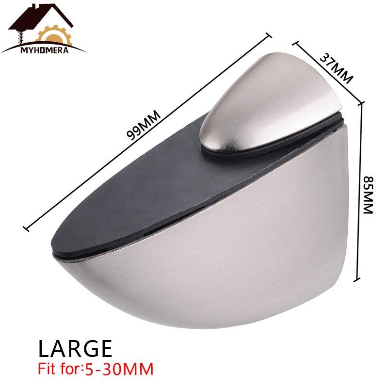 2PCS Myhomera Adjustable Glass Clamps F Clamp Shelves Holder Corner Bracket Zinc Alloy Glass Clips Large, Medium,Small,Mini