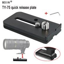 лучшая цена Bexin DSLR Cameras photography accessories Camera Tripod ball head Quick Release mount Plate For Sirui TY-LP75 tripod monopod