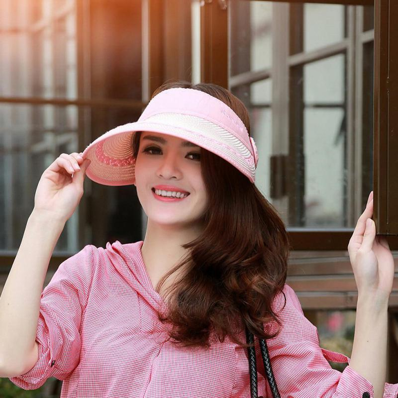 e319fad3005 COKK Brand Summer Hats For Women Folding Straw Hat Large Brim Sun Hat Visor  Cap Adjustable Beach Hat Chapeu Feminino 2018 New-in Sun Hats from Women s  ...