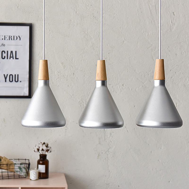 3PC Fanlive Slope Indoor lighting slope pendant lights Wood and aluminum lamp restaurant bar coffee dining room lignitng fixture dkny park slope ny2383