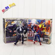 Encaixotado Revoltech No. 003 No. 002 Spiderman Spider Man Venom Ação Brinquedo