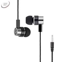 Música Fones de Ouvido Estéreo de 3.5mm Plug Wired In Ear Fones de Ouvido Sem Microfone Para Huawei Xiaomi Android Mp3 Telefone PC Jogador