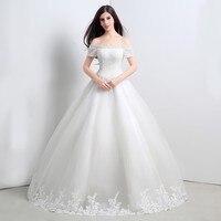 100% реальные фотографии Лодка шеи без бретелек кристаллы Свадебные и Бальные платья принцессы из тюля Роскошная свадебная одежда свободная