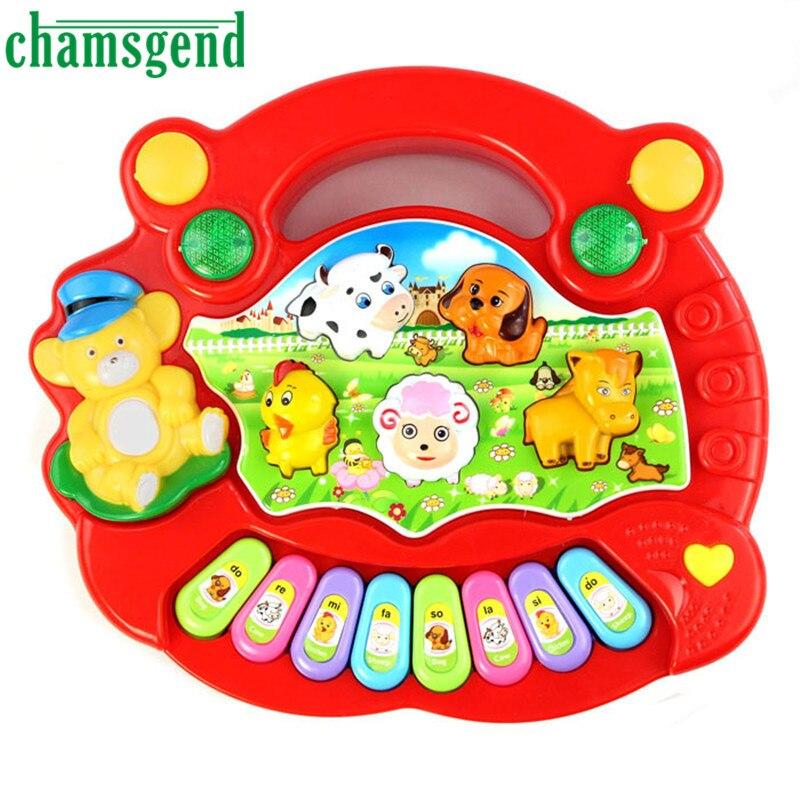 High Quality New Useful Popular Baby Kid Animal Farm Piano Music Toy Developmental Levert Dropship Aug6