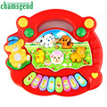Alta Qualidade New Útil Piano Popular Baby Kid Animal da Fazenda Música Toy Developmental Levert Aug6 Dropship