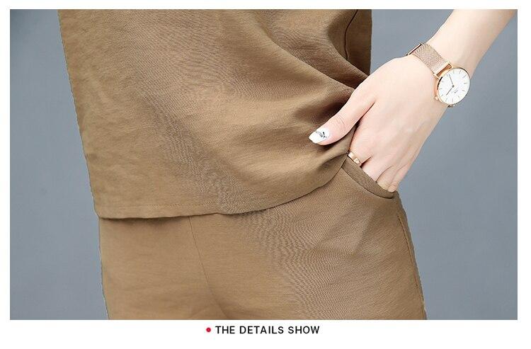 2019 Spring summer women sets office lady elegant chiffon blouse shirts+female wide leg pants trousers pantalon two piece sets 23