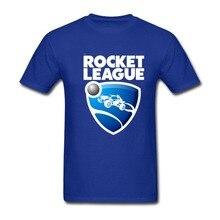 2017 Fashion funny casual Man Tops tees Geek Men's Rockets League Organic Cotton Tee Round Collar T-shirt