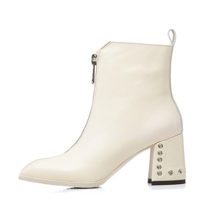 ... Rivetto Caviglia Black Femminile 2018 Genuino Della Quadrata Donna  Calzature Delle Cuoio Caricamento Talloni Short black ... 4e355f6628b