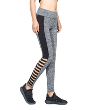 New Designs Activewear Mesh Legging Sexy Grey Leggins Black Leggings Spliced Women Cut Out Workout Leggings High Waist Leggings black cut out yoga bodycon leggings