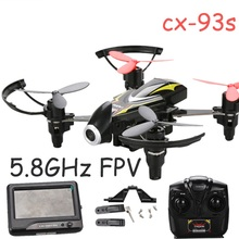 drone with 2 battery  CX-93S 6 Axis Gyro 4CH 5.8Ghz FPV Drone 120 Wide Angle Camera Real-time Transmit Quadcopter RTF Toy gifts
