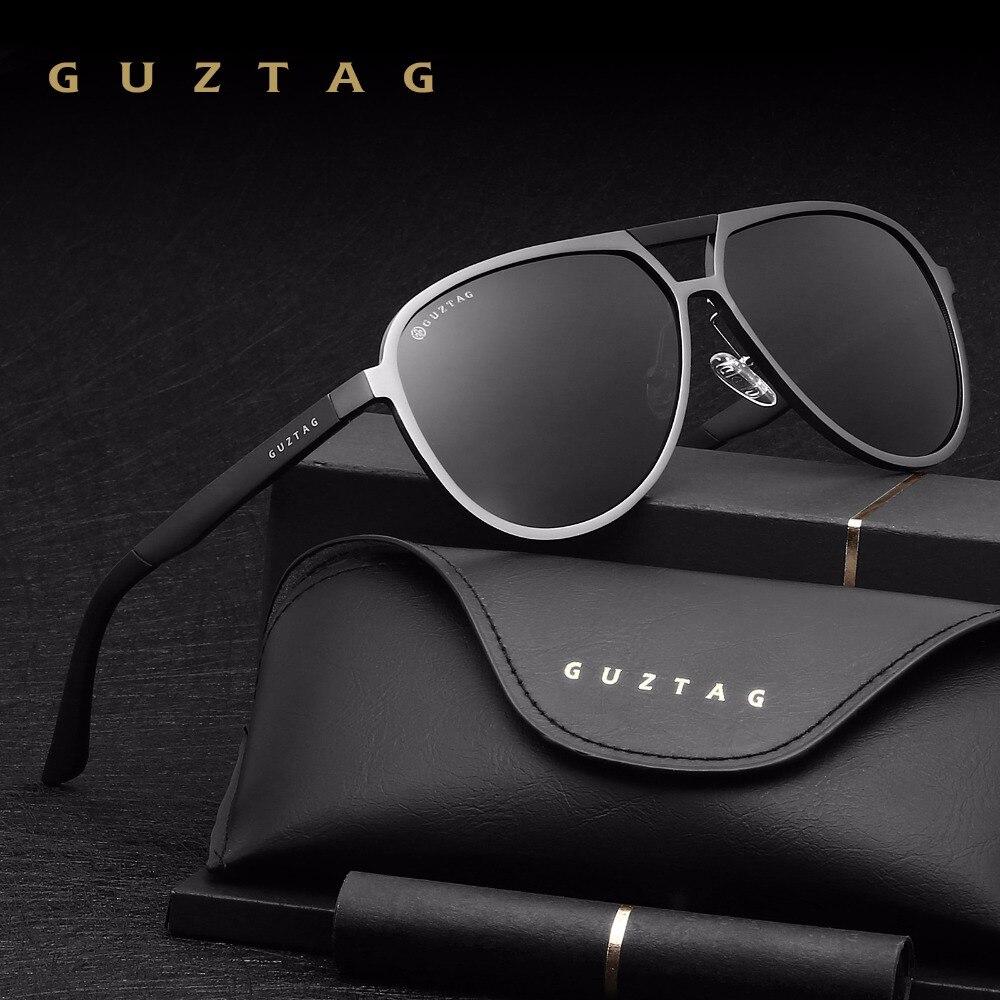 Guztag unisex clásico marca hombres mujeres aluminio Gafas de sol HD Polarized UV400 espejo masculino Sol Gafas Mujeres para Hombres g9820
