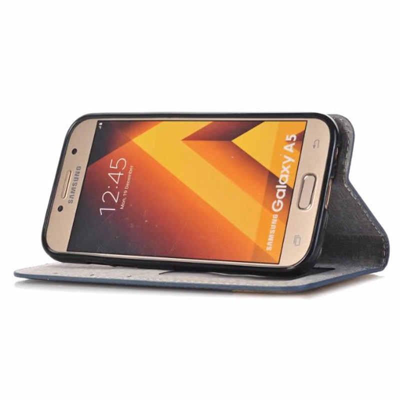 Роскошный кожаный бумажник чехол для Samsung Galaxy A5 2017 A520 A7 2017 A720 Магнитный всасывания откидная крышка Держатель для карт