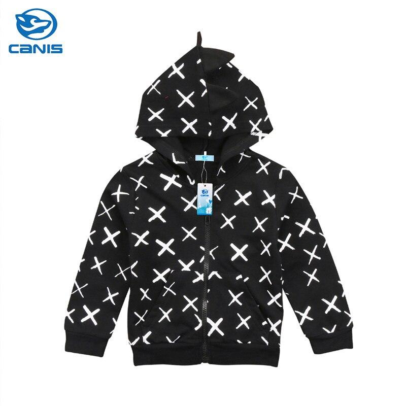 Kids Baby Boys Girls Toddler Dinosaur Hoodie Sweater Hooded Sweatshirts Long Sleeve Tops Sweatshirt Coat