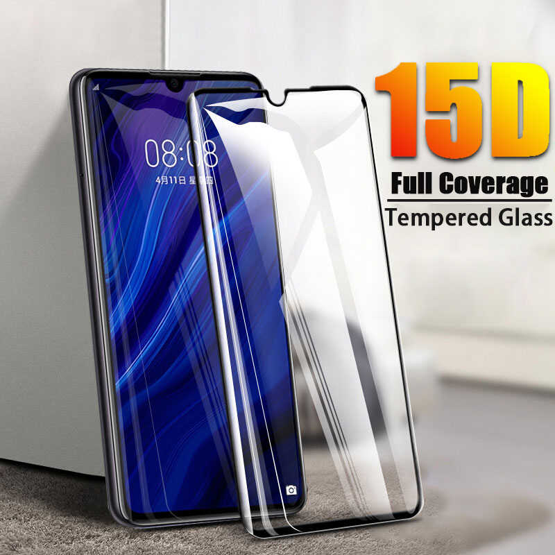 15D Tempered Glass On For Huawei P30 P20 Lite Pro Screen Protector Protective Film For Mate 10 9 20 Lite Pro Full Cover Glass