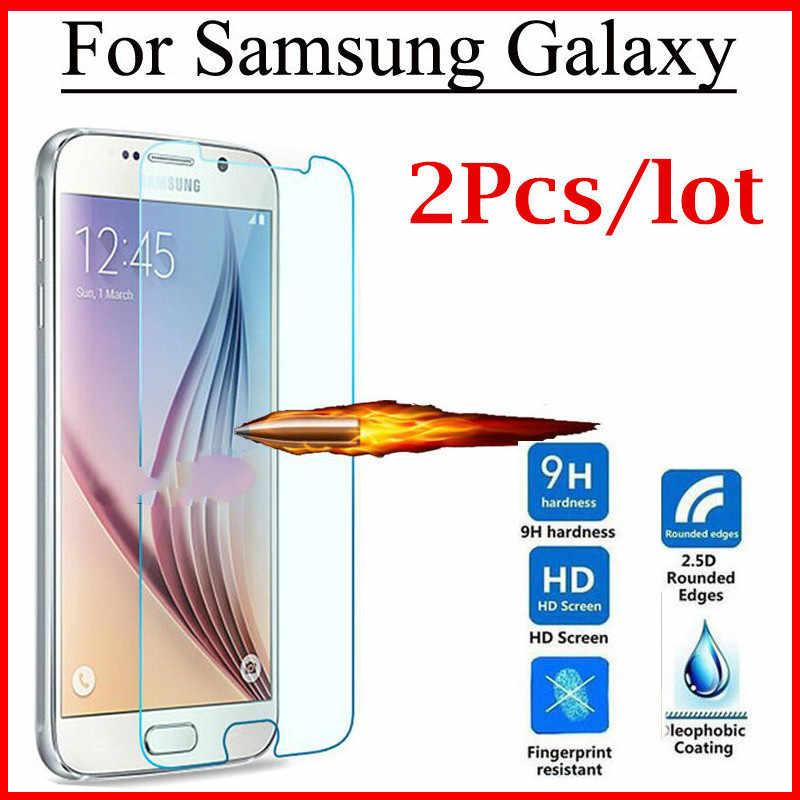 2pcs/lot Tempered Glass Screen Protector For Samsung Galaxy J1 2016 J2 Prime J3 J5 J7 2015 2016 2017 Cover Protection Film Case