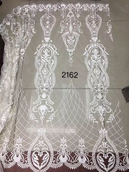 Top grade  white net lace SYJ-62486  French tulle lace fabric African mesh material