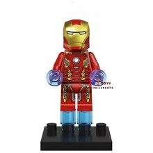 Única Venda de star wars de super-heróis da marvel Homem De Ferro Coleção modelo de blocos de construção tijolos brinquedos para as crianças brinquedos menino