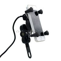 12V Universal Motorcycle MTB Motorbike Bike Handlebar Mount Stand Holder For Cell Phone Ipod GPS With