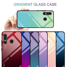 Gradient Tempered Glass Phone Case For Huawei Honor 8X  P10 Lite P20 Pro P30 Por 9 Cover Housing