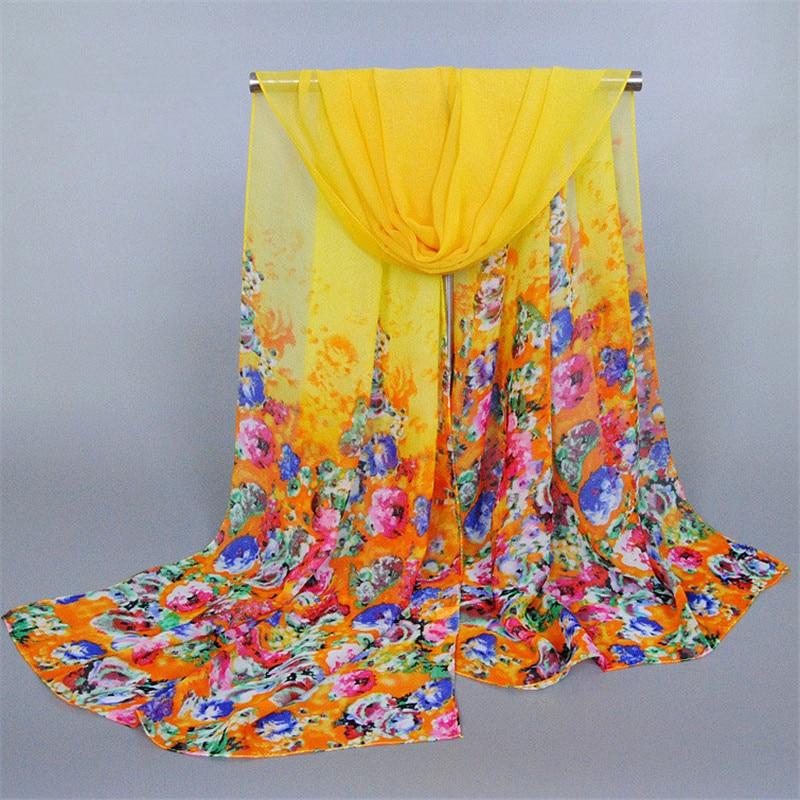 2017 Women's Scarf Chiffon Silk Cachecol Summer Polyester Hijab Poncho Shawls Sunscreen Mulher Beach Towel Cape Bandana