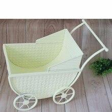 Accesorios de cama Vintage para bebé, cuna para recién nacido, cuna para recién nacido, cama de hierro para carro, accesorio de foto, carrito de Metal para niños, regalo de ducha para niñas