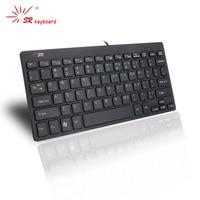 OEM 78 Touches SR-i801 Mini Portable Bureau USB utilisation Du Clavier pour Multimédia Éducatifs Ordinateur Clavier