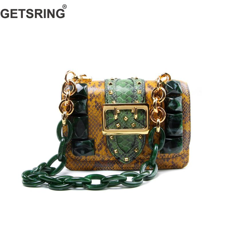 GETSRING Woman Bag Women Handbag Shoulder Bag Crossbody Bags For Woman 2018 New Genuine Leather Color