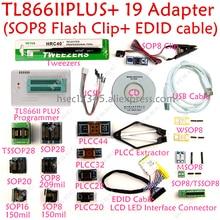 New XGecu tl866ii plus usb programmer+19 adapter SOP8 Clip minipro TL866 universal programmer CH341A/EZP2010/EZP2013 programador