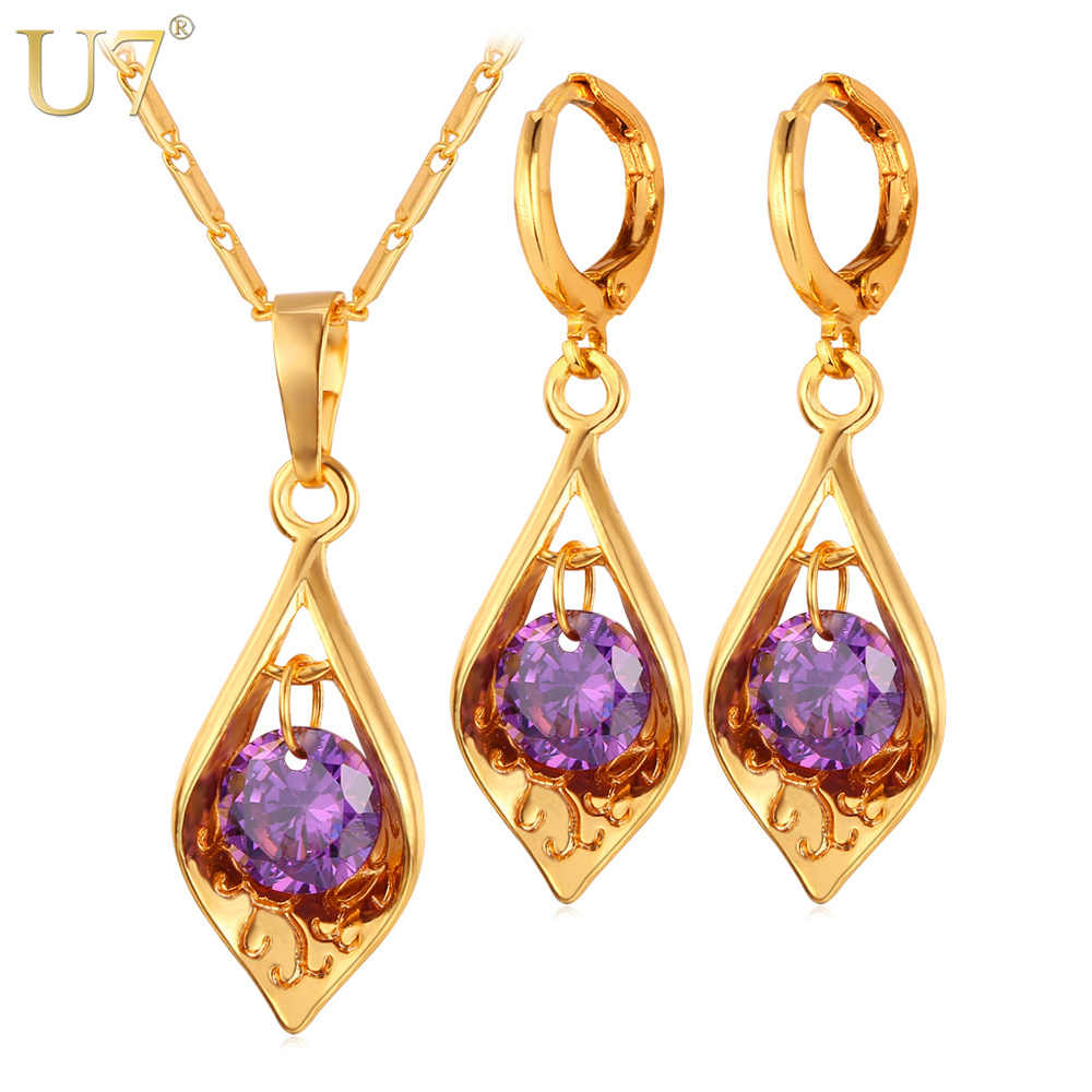 U7 Luxury Cubic Zirconia Jewelry Set