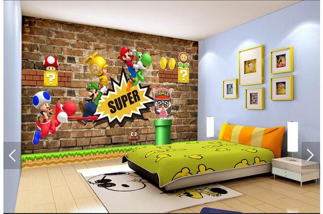 Custom children wallpaper super mary 3d cartoon murals for for Sala girasol