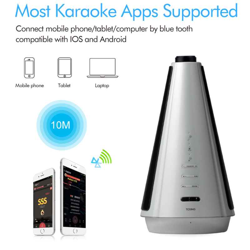 RACAHOO Bluetooth Wireless Microphone Wireless Speaker For KTV Karaoke Singing For Android IOS Phone Recorded Song Music Player