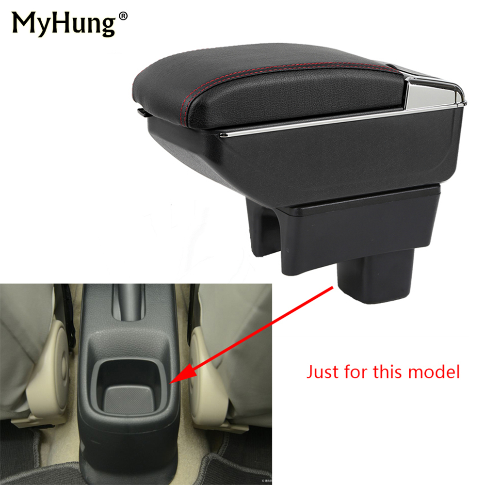 For SUZUKI SX4 2006-2018 Armrest box Central Console Arm Store content box cup holder ashtray With Rise and Down Function Parts universal leather car armrest central store content storage box with cup holder center console armrests free shipping