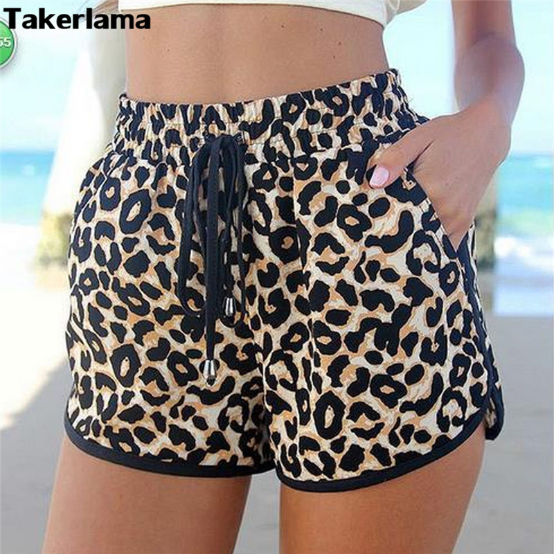 Sexy Women Ladies High Waist Shorts Spring Summer Loose Leopard Printing Shorts Beach Casual Cozy Mini Shorts