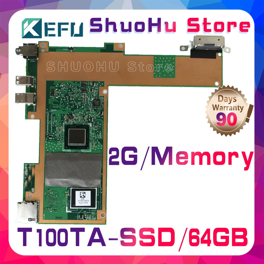 SHELI For ASUS T100TA T100T T100TAM 64G SSD 2GMemory laptop motherboard tested 100% work original mainboard send board t100ta motherboard 64gb for asus t100ta t100taf t100t laptop motherboard t100ta mainboard t100ta motherboard test ok
