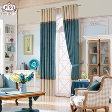 Modern Solid Window Curtains For Living Room Teal Curtain Fabric Drapes  Natural Patchwork Shade Home Blinds Part 55