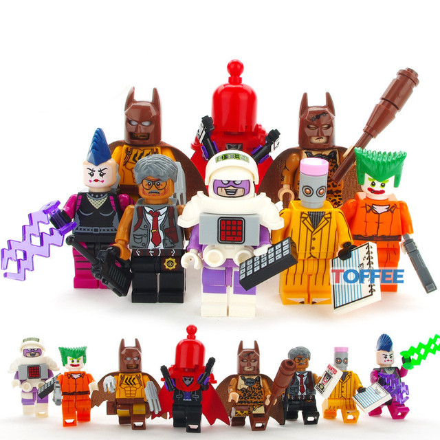 US $8 88 |8pcs Batman DC Super Heroes Joker Red Hood Mime Calculator Eraser  Mini Building Blocks Bricks Figures Toy Boys Marvel Avengers -in Blocks