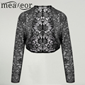 Meaneor Brand Knit Bolero Shrug Women Casual 3/4 Sleeve Lace Floral Light Crop Shrug Cardigan Short All-match Shawl Wrap Coat