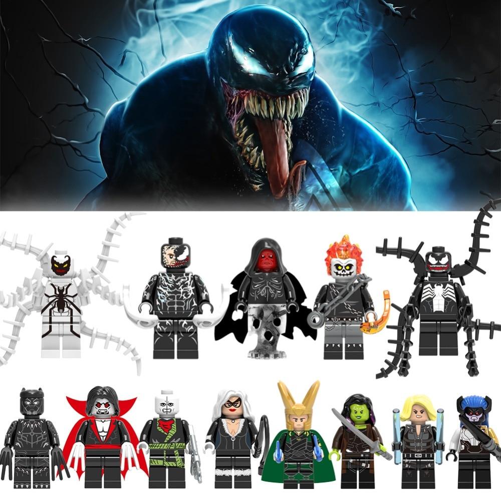 Bad Guy Single Sale Venom Carnage Spider Man Venom Legoingly Figure Marvel Super Hero Building Blocks Set Model Action Toys(China)