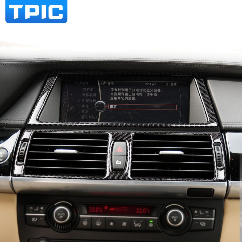 Carbon Fiber Car Interior Navigation Control Panel air conditioner ...