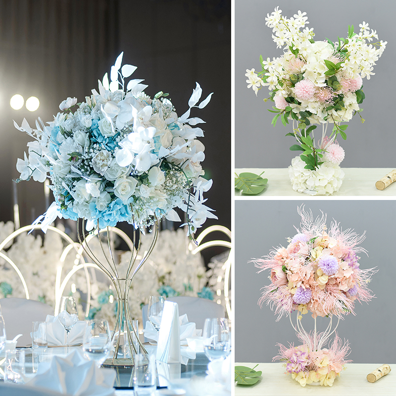 JAROWN Artificial Main Table Flower Ball Set Home Party Road Lead Props Flower Arrangement Wedding Signing Table DecorationJAROWN Artificial Main Table Flower Ball Set Home Party Road Lead Props Flower Arrangement Wedding Signing Table Decoration