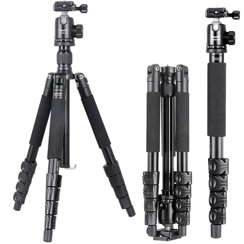 XILETU TB 255A B36 Professional Portable Stable Digital Camera Buckle Tripod Ball Head kit Stand Bracket